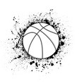 basketball grunge symbol vector image vector image