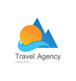 beach travel logo vector image vector image