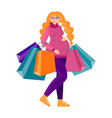 beautiful pregnant woman shopping for babys vector image