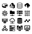 Big Data Analytics Icons Set on White Background vector image vector image