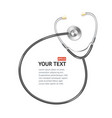 black Stethoscope with place for text vector image vector image