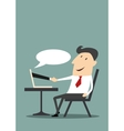 Businessman having an online trading vector image vector image