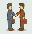 Businessmen handshake successful business graphic