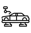 car assembly line icon outline style
