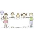 Cartoon children holding empty banner vector image