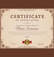 certificate template decorative borders vector image