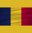 chad flag flag of chad blowig in the wind eps 10 vector image