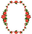 christmas frame with flowers vector image