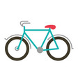 color silhouette with tourist bicycle icon vector image