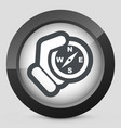 compass hold icon vector image