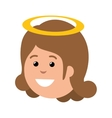 cute angel manger character vector image