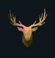 deer portrait invert color poly vector image vector image