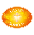 easter sunday banner with cross vector image vector image