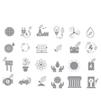 Eco gray icons set vector image vector image