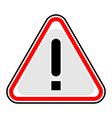 exclamation point warning attention hazard sign vector image