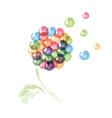 Fantasy dandelion vector image