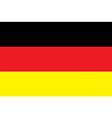 Flag of Germany vector image vector image