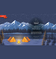 flat night camping background vector image
