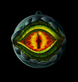 game icon with dragon eye vector image vector image