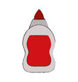 glue bottle isolated vector image vector image