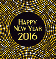 Golden radial pattern New Year background vector image vector image