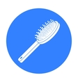 Hairbrush icon in black style isolated on white vector image vector image