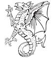 heraldic dragon no10 vector image vector image