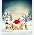 holiday christmas and new year background vector image vector image