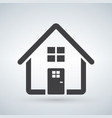 home icon house enter welcome concept building vector image