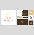 initial letter g logo line style design vector image