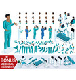 isometric doctor african american create paramedic vector image vector image