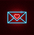 love letter neon sign vector image vector image