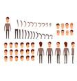 man character creation set icons with different vector image vector image