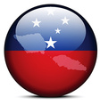 Map on flag button of Independent State Samoa vector image vector image