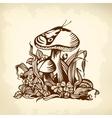 mushroom brown vector image