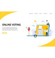 Online voting website landing page design