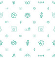 ornament icons pattern seamless white background vector image vector image