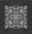 ornamental calligraphic element on chalkboard vector image vector image
