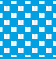 orthopedic pillow pattern seamless blue vector image vector image