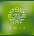 outdoor label vector image vector image