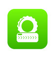 paintball field tire barricade icon green vector image