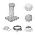 pet shop monochrome icons in set collection for vector image vector image