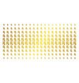 rx symbol golden halftone effect vector image vector image