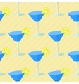 Seamless flat pattern with cocktail glasses vector image