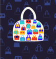set icons of Women bags vector image vector image