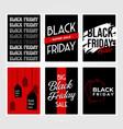 set of black friday background poster print design vector image