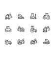 set special transport and construction equipment vector image vector image