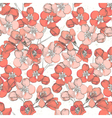 Spring floral hand drawn seamless vector image