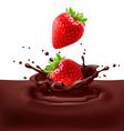 Strawberries with chocolate vector image vector image
