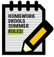 Summer Rules vector image vector image